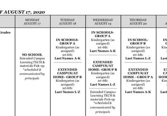 Week of August 17, 2020