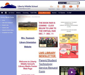 Liberty Middle School LMC Website
