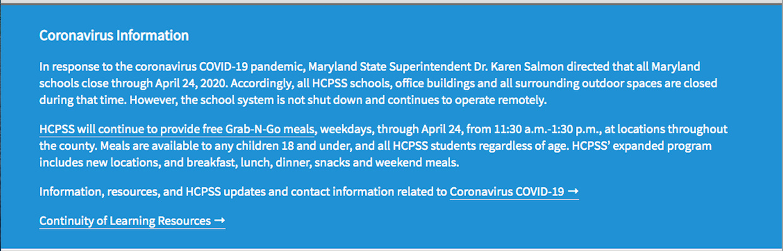 Coronavirus 2019 (COVID–19) - Info Link