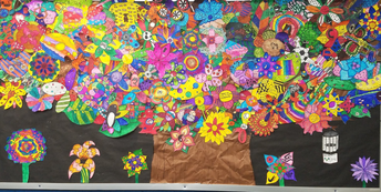 """Student """"What Lifts You"""" Tree Mural"""