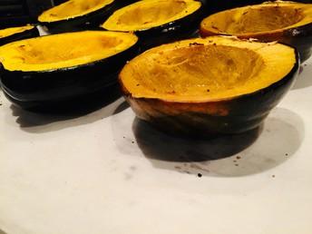 Roasted acorn squash for the buckwheat recipe