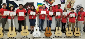 Elsik High School took top scores at the 9th Annual Houston ISD Guitar Festival.