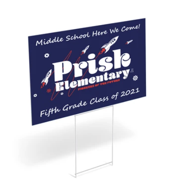 Purchase Your 5th-Grade Lawn Signs & T-Shirts by Friday, May 7th!