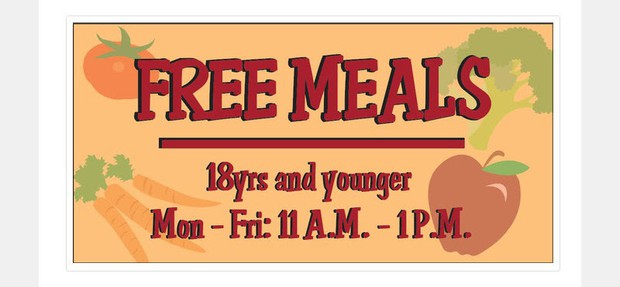 Free Meals M-F from 11 - 1