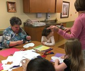 ECC goes to Pin Oaks to make Valentine's Cards