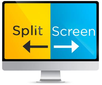 Tip for online learning: split screen
