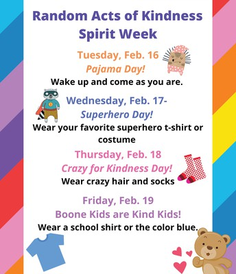 Random Acts of Kindness Spirit Week