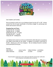 Scholastic Book Fair May 15-19