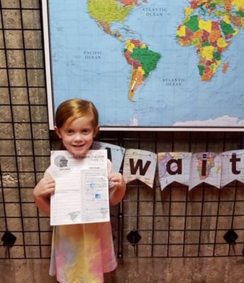 Parker Coy stamped her passport to South America!