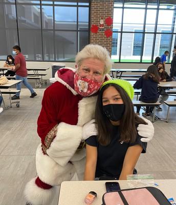 Santa & cheer captain Jasmine