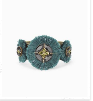Gemma Fan bracelet, forest green