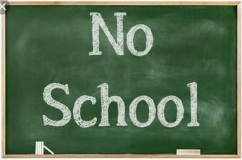 No School Nov 11th, 26th, 27th