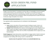 Green PBL Fund Applications DUE NOV. 1!