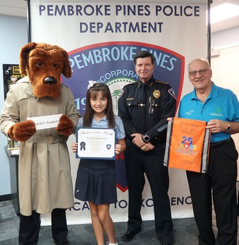 City of Pembroke Pines Police Department Student of the Month