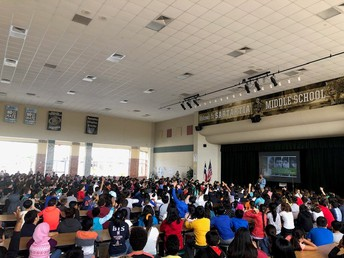 Students during Sandy Hook Promise Assembly