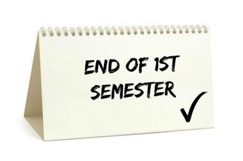 El semestre 1 está llegando a su fin