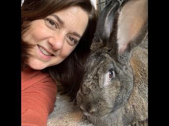 Mrs. Thomas and her rabbit Stella