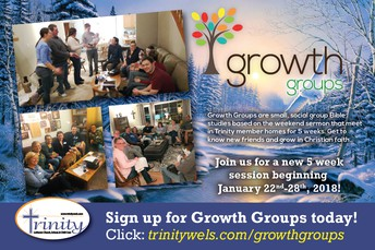 NEW WINTER SESSION OF GROWTH GROUPS LAUNCHING...