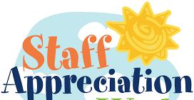 Staff appreciation with sun & clouds