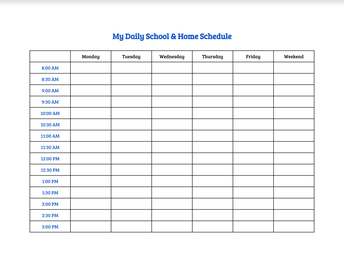 Week 1: Creating Habits and Routines