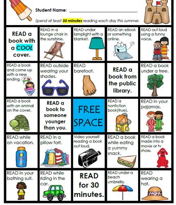 July Bingo Card