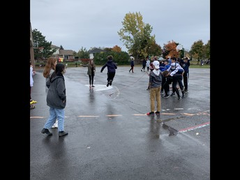 A little intermediate jump rope fun - rain doesn't stop us!