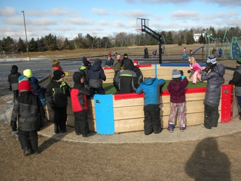 The Gaga pit was alive with play!