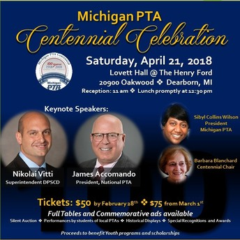 MI PTA Centennial Celebration Luncheon