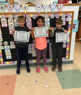 April 2019 Perfect Attendance - 1st grade