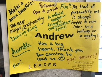 "How my staff ""Knows"" me!  I am so grateful for these kind words!"