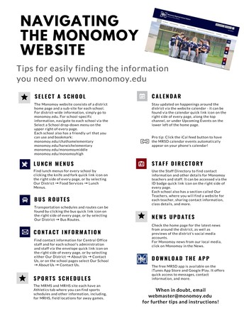 Navigating the Monomoy website