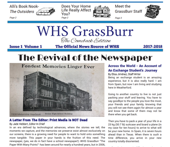 WHS GrassBurr - The Paper With Many Points (official news source of WHS)