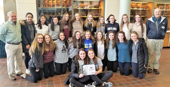 Unified Basketball Team and AHS Girls Soccer Honored for Community Service