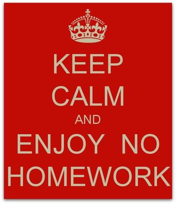 Homework Free Reminder to Parents