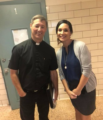 Father Clint and Mrs. Lopez
