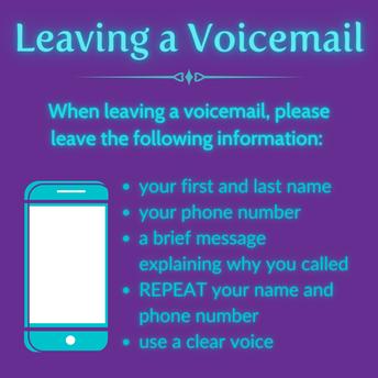 Voicemail Menu