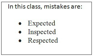 Mistakes Are A Learning Opportunity