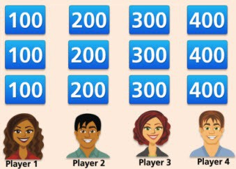 Mean Median and Mode Jeopardy Game - Math Play