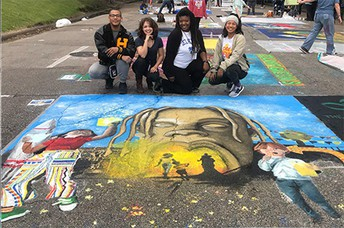 Hastings High School was recognized by Mayor Sylvester Turner and artist Travis Scott.