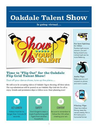 Oakdale Virtual Talent Show