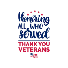 Everyone Welcome! Veteran's Day Program Nov. 12 @ 10 am