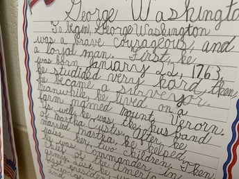 Writing About Our First President...