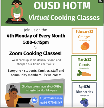 Harvest of the Month Virtual Cooking Classes - 4th Monday of each month