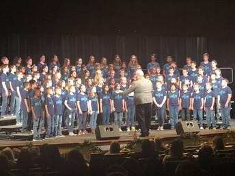SMS Choir at grand opening of SISD Auditorium