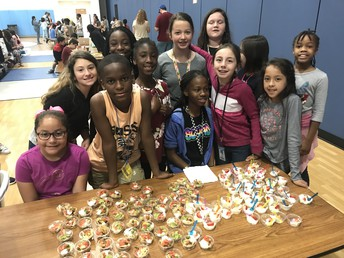 This Cooking Group made Mini-Tacos and Dessert!