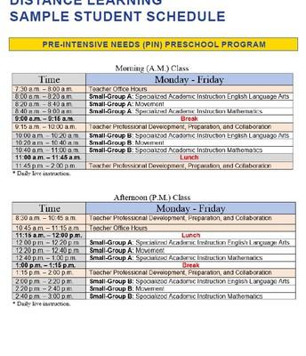 Pre-Intensive Needs (PIN) Preschool Program