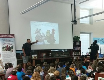 #JustaChicken authors and fourth grade students