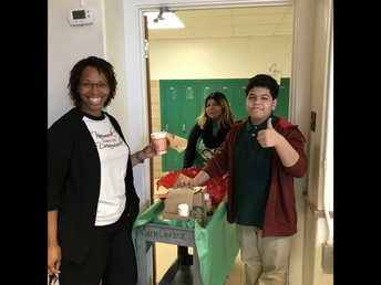 Ms. Saucedo and Office Helpers