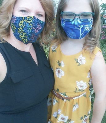 Mrs. Owens and Daughter Carrigan Are Mask Ready!
