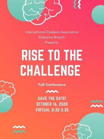 Rise To The Challenge Virtual Fall Conference hosted by the International Dyslexia Association Alabama Branch